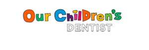Our children's dentist logo, all letters are different colors
