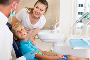 family participates in dentistry services